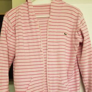 Lacoste pink hoodie
